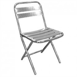 Bolero Aluminium Foldaway Chairs (Pack of 4)