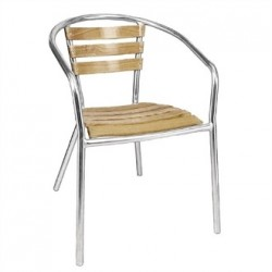 Bolero Aluminium and Ash Chairs 730mm (Pack of 4)