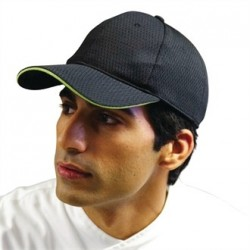 Colour by Chef Works Cool Vent Baseball Cap Black with Lime