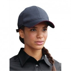 Colour by Chef Works Cool Vent Baseball Cap Black with Merlot