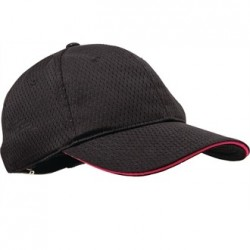 Colour by Chef Works Cool Vent Baseball Cap Black with Berry