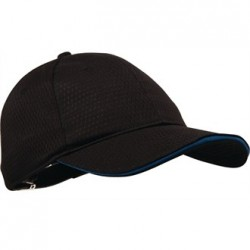 Colour by Chef Works Cool Vent Baseball Cap Black with Blue