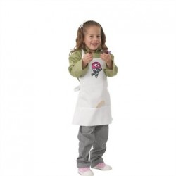 Chef Works Kids Chef Apron White