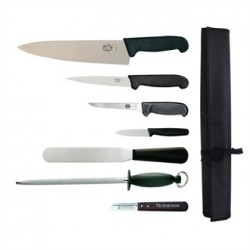 Victorinox 7 Piece Knife Set with 25.5cm Chefs Knife with Wallet