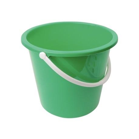 Jantex Round Plastic Bucket Green 10Ltr