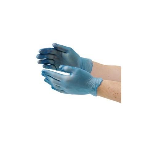 Vogue Vinyl Food Prep Gloves Blue Powder Free Small