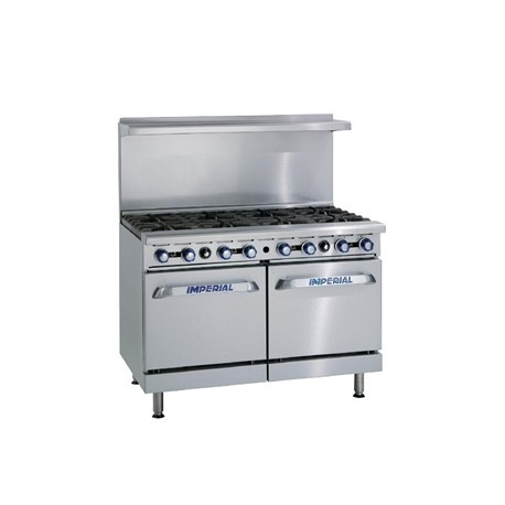 Imperial 8 Burner Double Oven Natural Gas Oven Range IR8-N