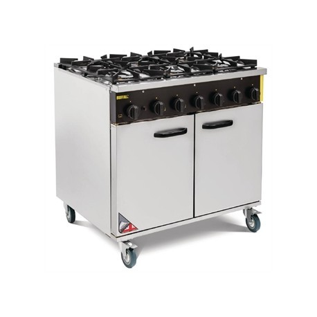 Buffalo 6 Burner Propane Gas Oven Range