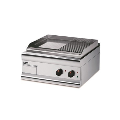 Lincat Silverlink 600 HalfRibbed Electric Griddle Dual Zone 600mm Wide GS6/TR/E