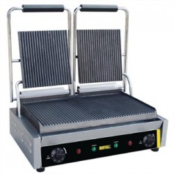 Buffalo Bistro Contact Grill Double Ribbed