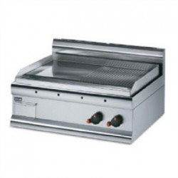 Lincat Silverlink 600 Half Ribbed Dual Zone Electric Griddle GS7/R