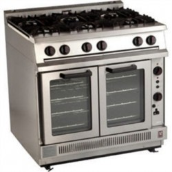 Falcon Dominator 6 Burner Convection Natural Gas Oven Range G2102
