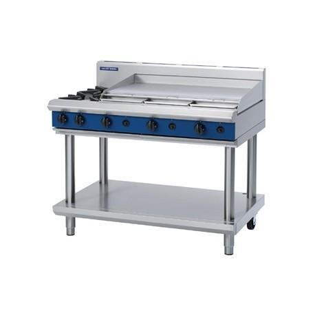 Blue Seal Evolution Cooktop 2 Open/1 Griddle Burner LPG on Stand 1200mm G518A-LS/L