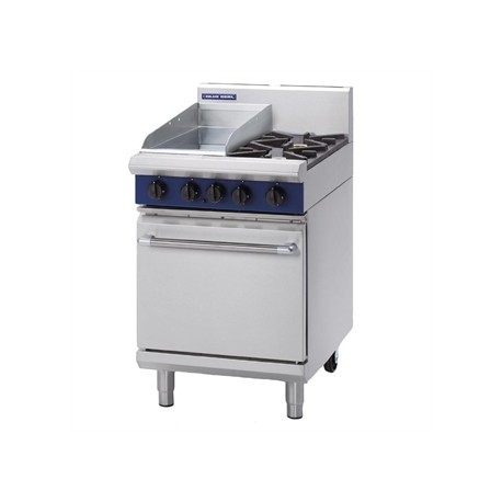 Blue Seal Evolution 2 Burner/Griddle Static Oven Nat Gas 600mm G504C/N