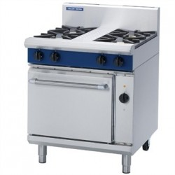 Blue Seal Evolution 4 Burner Electric Convection Oven Natural Gas 750mm GE54D/N