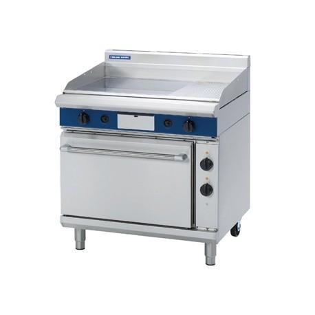 Blue Seal Evolution Nat Gas 1/3 Ribbed Chrome Griddle Electric Static Oven Nat Gas GPE506/N
