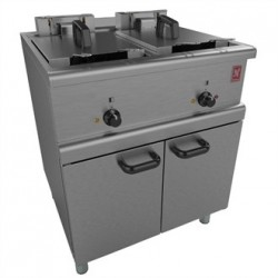 Falcon 350 Series Freestanding Twin Pan Four Basket Electric Fryer E350/37