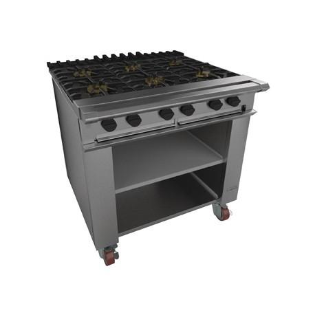 Falcon Chieftain 6 Burner Boiling Table on Castors LPG G1060X