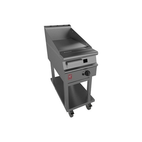 Dominator Plus 400mm Wide Ribbed Griddle on Mobile Stand LPG G3441R