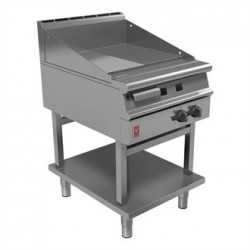 Falcon Dominator Plus 600mm Wide Half Ribbed Griddle on Fixed Stand Natural Gas G3641R