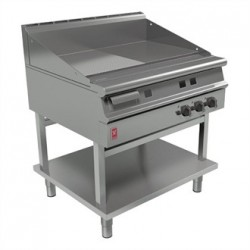 Falcon Dominator Plus 900mm Wide Half Ribbed Griddle on Fixed Stand Natural Gas G3941R