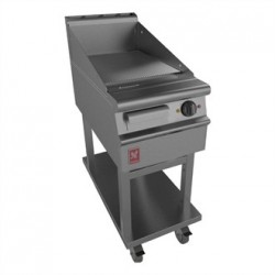 Dominator Plus 400mm Wide Ribbed Griddle on Mobile Stand E3441R