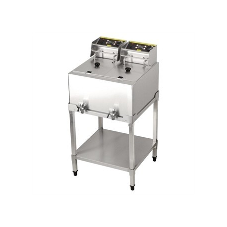Buffalo Double Tank Fryer with Stand 2x 8Ltr