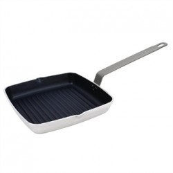 Vogue Square Non Stick Ribbed Skillet Pan 240mm