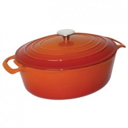 Vogue Orange Oval Casserole Dish 6Ltr