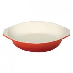 Vogue Orange Round Cast Iron Gratin Dish 400ml
