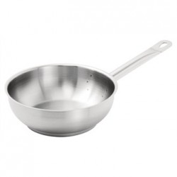 Vogue Stainless Steel Saute Pan 200mm