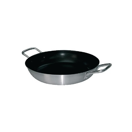 Vogue Non Stick Aluminium Paella Pan 350mm
