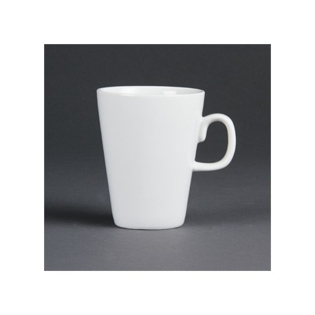 Olympia Whiteware Latte Mugs 285ml 10oz