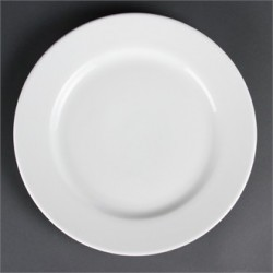 Olympia Whiteware Wide Rimmed Plates 310mm