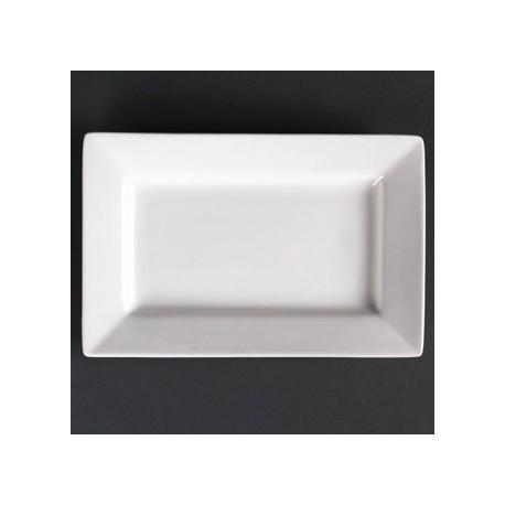 Lumina Wide Rim Rectangular Plates 200x 130mm