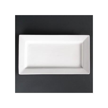 Lumina Wide Rim Rectangular Plates 310mm
