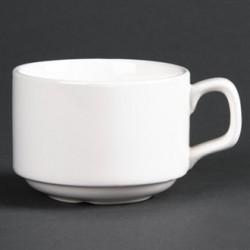 Lumina Fine China Stacking Coffee Cups 175ml 6oz