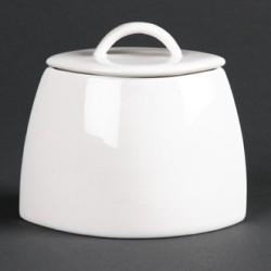 Lumina Fine China Oval Sugar Bowls with Lids 200ml 7oz