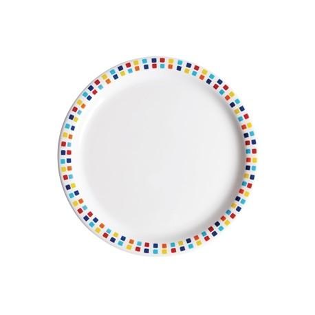 Carlisle Spanish Tile Dinner Plates 230mm