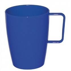 Kristallon Polycarbonate Handled Beakers Blue 284ml