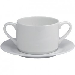 Elia Glacier Fine China Handled Soup Cups 220ml