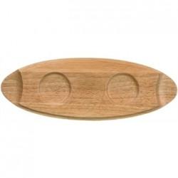 Churchill Art de Cuisine Menu Oval Wooden Trays 400mm
