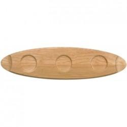 Churchill Art de Cuisine Menu Oval Wooden Trays 550mm