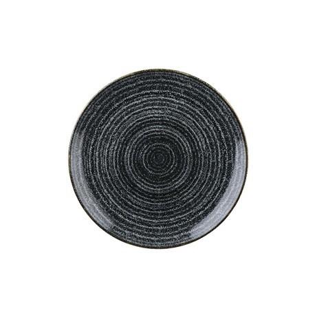 Churchill Studio Prints Charcoal Black Coupe Plate 165mm