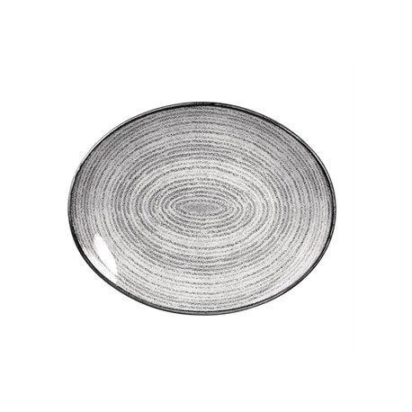Churchill Studio Prints Stone Grey Oval Coupe Plate 317 x 255mm