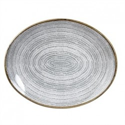 Churchill Studio Prints Stone Grey Oval Coupe Plate 270 x 229mm