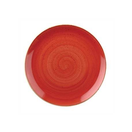 Churchill Stone Cast Berry Red Coupe Plate 217mm