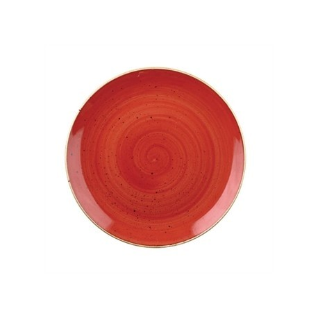 Churchill Stone Cast Berry Red Coupe Plate 248mm