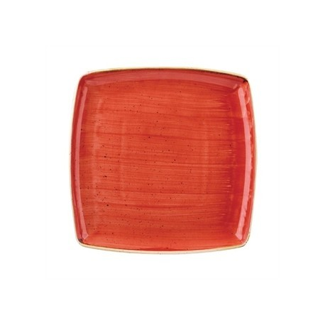 Churchill Stone Cast Berry Red Square Plate 268mm