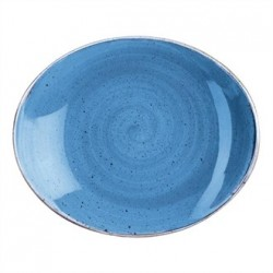 Churchill Super Vitrified Stonecast Duck Egg Blue Oval Plate 197mm